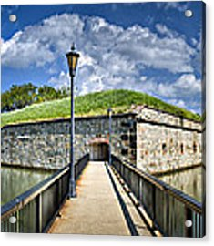 Postern Gate Bridge Acrylic Print by Williams-Cairns Photography LLC