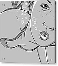 Swimming Girl Acrylic Print by Giuseppe Cristiano