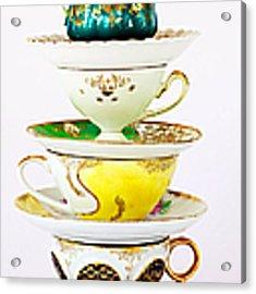 Tea Party Acrylic Print by Kim Fearheiley