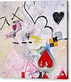 Ten Of Hearts 1-52 Acrylic Print by Cliff Spohn