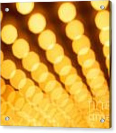 Theater Lights In Rows Defocused Acrylic Print