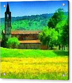 Tiglieto Abbazia Cistercense Acrylic Print by Enrico Pelos