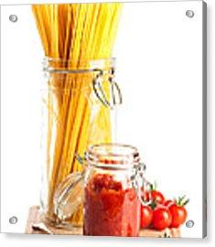 Tomatoes Sauce And  Spaghetti Pasta  Acrylic Print