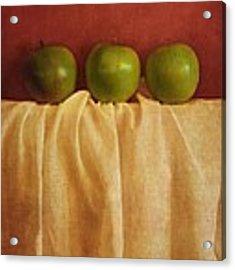Trois Pommes Acrylic Print