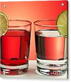 Two Red Drinks Acrylic Print