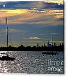 View Of Manhattan From City Island Bronx Ny Acrylic Print by Dale   Ford