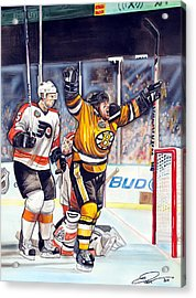2010 Nhl Winter Classic Acrylic Print by Dave Olsen