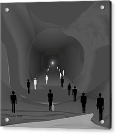 249 - The Light At The End Of The Tunnel   Acrylic Print by Irmgard Schoendorf Welch