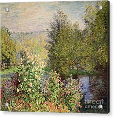 A Corner Of The Garden At Montgeron Acrylic Print by Celestial Images