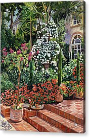 A Garden Approach Acrylic Print by David Lloyd Glover