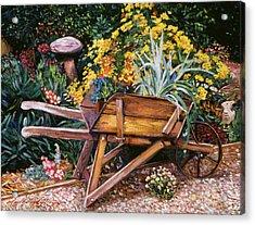 A Gardener's Helper Acrylic Print by David Lloyd Glover