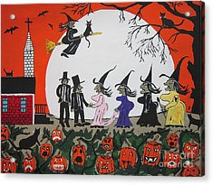 A Halloween Wedding Acrylic Print