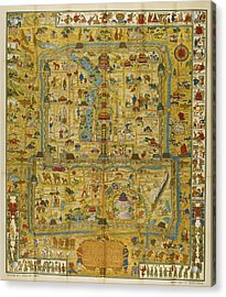 A Map And History Of Peiping Acrylic Print by  Frank Dorn