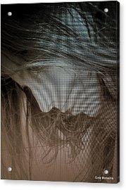 A Self Portrait Acrylic Print by Gina Monalina
