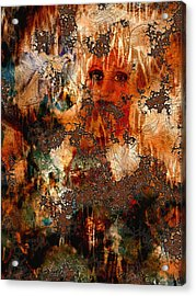 Abstract Woman And Dove Acrylic Print by Patricia Motley