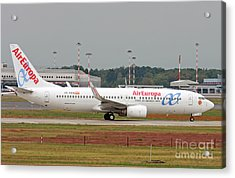 Acrylic Print featuring the photograph  Aireuropa - Boeing 737-800 - Ec-kcg  by Amos Dor