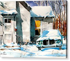 Another Snow Day Acrylic Print by Art Scholz