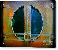 Art Deco Door In Halifax Nova Scotia Acrylic Print by John Malone