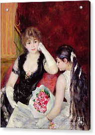 At The Concert Acrylic Print by Pierre Auguste Renoir