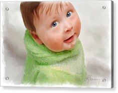 Baby Blue Eyes Acrylic Print by Michael Greenaway