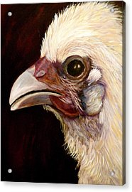 Acrylic Print featuring the painting  Baby Chick by Marie Hamby