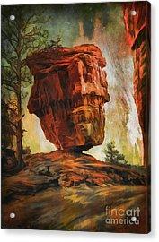 Balanced Rock  Acrylic Print by Andrzej Szczerski