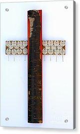 Bark Cross With Key Tags Acrylic Print
