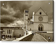 Acrylic Print featuring the photograph  Basilica Of San Francesco by John Hix