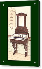 Bathroom Picture Wash Stand Two Acrylic Print