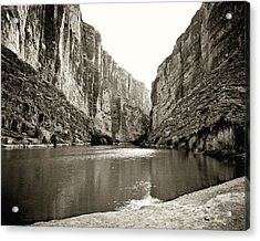 Big Bend National Park And Rio Grand River Acrylic Print
