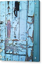 Blue Door In The Old South Acrylic Print by Shawn Hughes