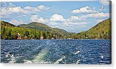 Boat Ride Digital Art Acrylic Print by Susan Leggett