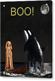 Boo Scream With Orca Acrylic Print
