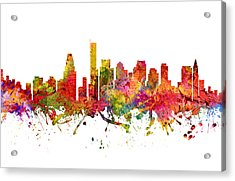Boston Cityscape 08 Acrylic Print by Aged Pixel
