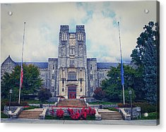 Burruss Hall Acrylic Print by Kathy Jennings
