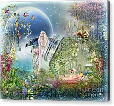 Acrylic Print featuring the digital art  Butterfly Fairy by Trudi Simmonds