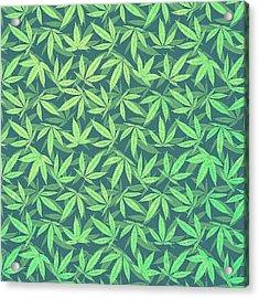 Cannabis   Hemp  420   Marijuana  Pattern Acrylic Print by Philipp Rietz