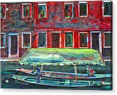 China Village Acrylic Print by Peggy  Blood