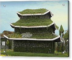 Chinese House Acrylic Print by Art Spectrum