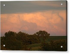 Clouds Of A Distant Storm Acrylic Print by Linda Ostby