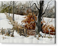 Cold Gate Acrylic Print by Art Scholz
