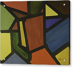Color Shapes Acrylic Print by Jose Rojas