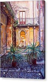 Courtyard Acrylic Print
