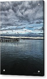 Dock In The Bay Acrylic Print by DMSprouse Art