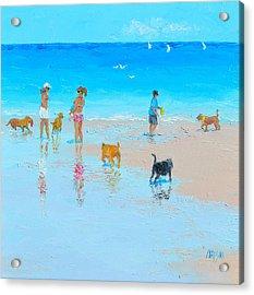 Dog Beach Day Acrylic Print