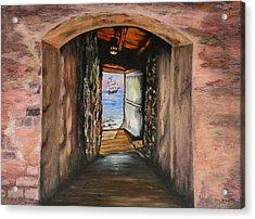 Door Of No Return Acrylic Print by Tony Vegas
