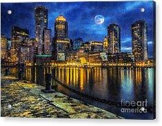 Downtown At Night Acrylic Print