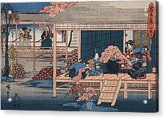 Envoys From The Shogun Approach Lady Kaoyo  Acrylic Print by Hiroshige