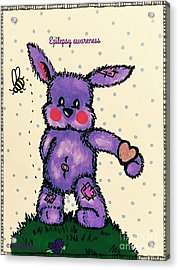 Epilepsy Awareness Bunny Acrylic Print