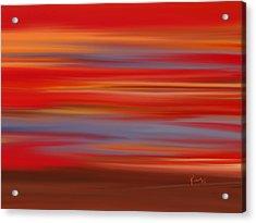 Acrylic Print featuring the digital art  Evening In Ottawa Valley by Rabi Khan